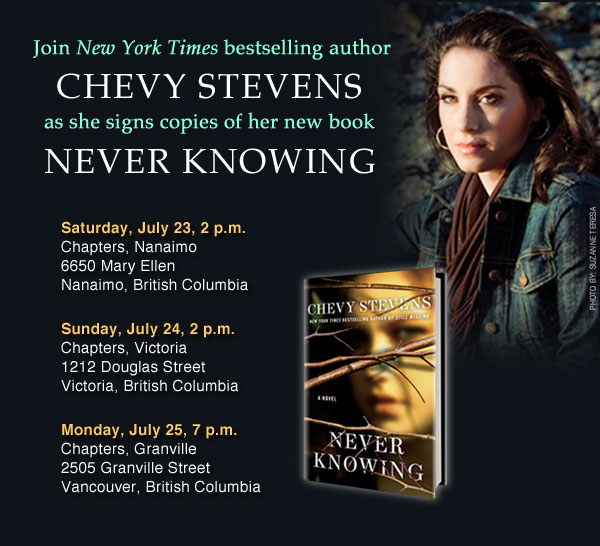Chevy Stevens Canadian Events