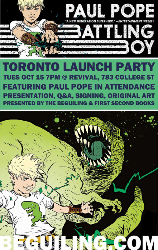 Paul Pope Battling Boy Launch Toronto
