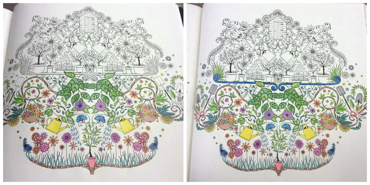 The Secret Garden And Joy Of Colouring Books