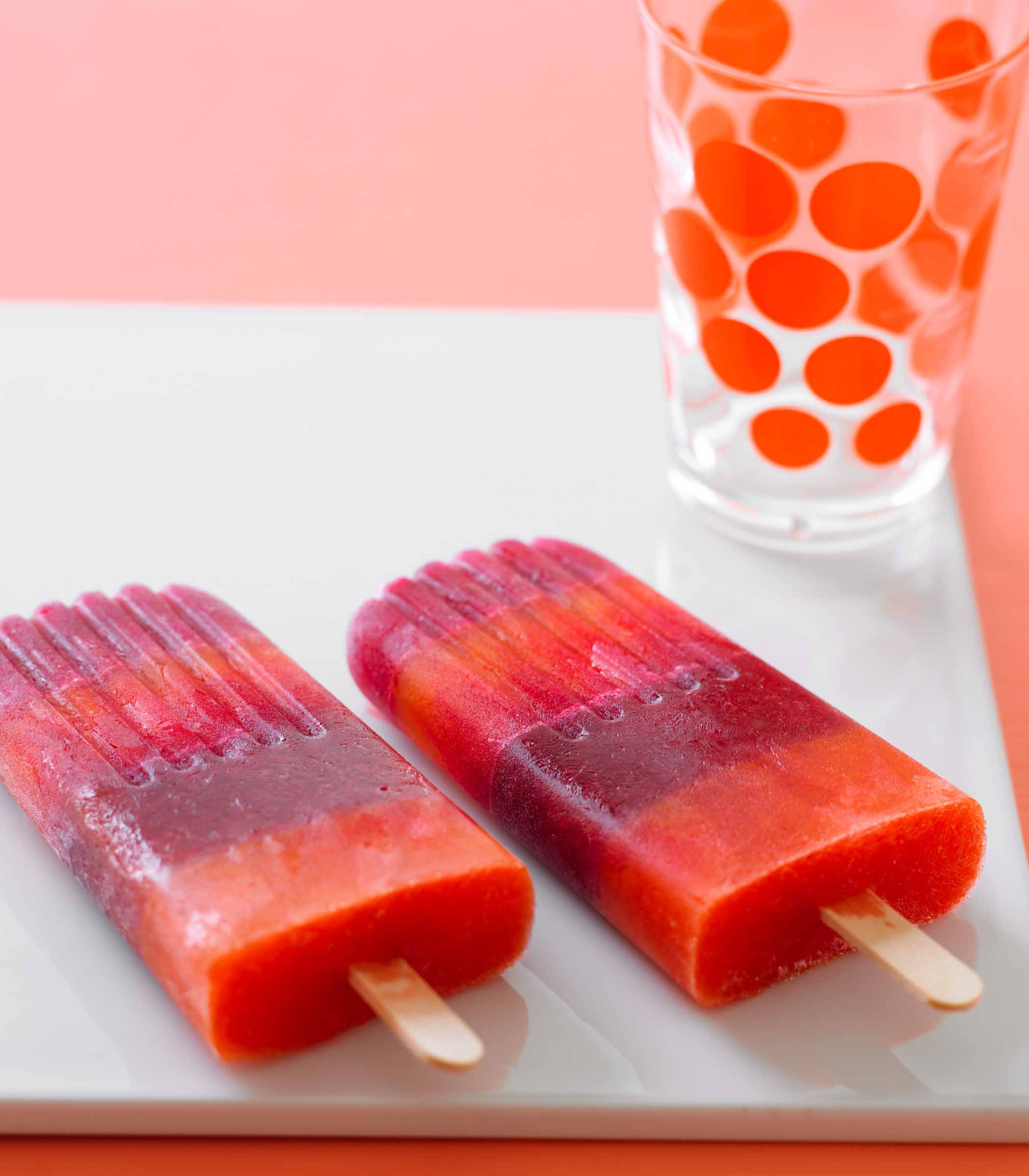 Striped Juice Pops Recipe — Dishmaps