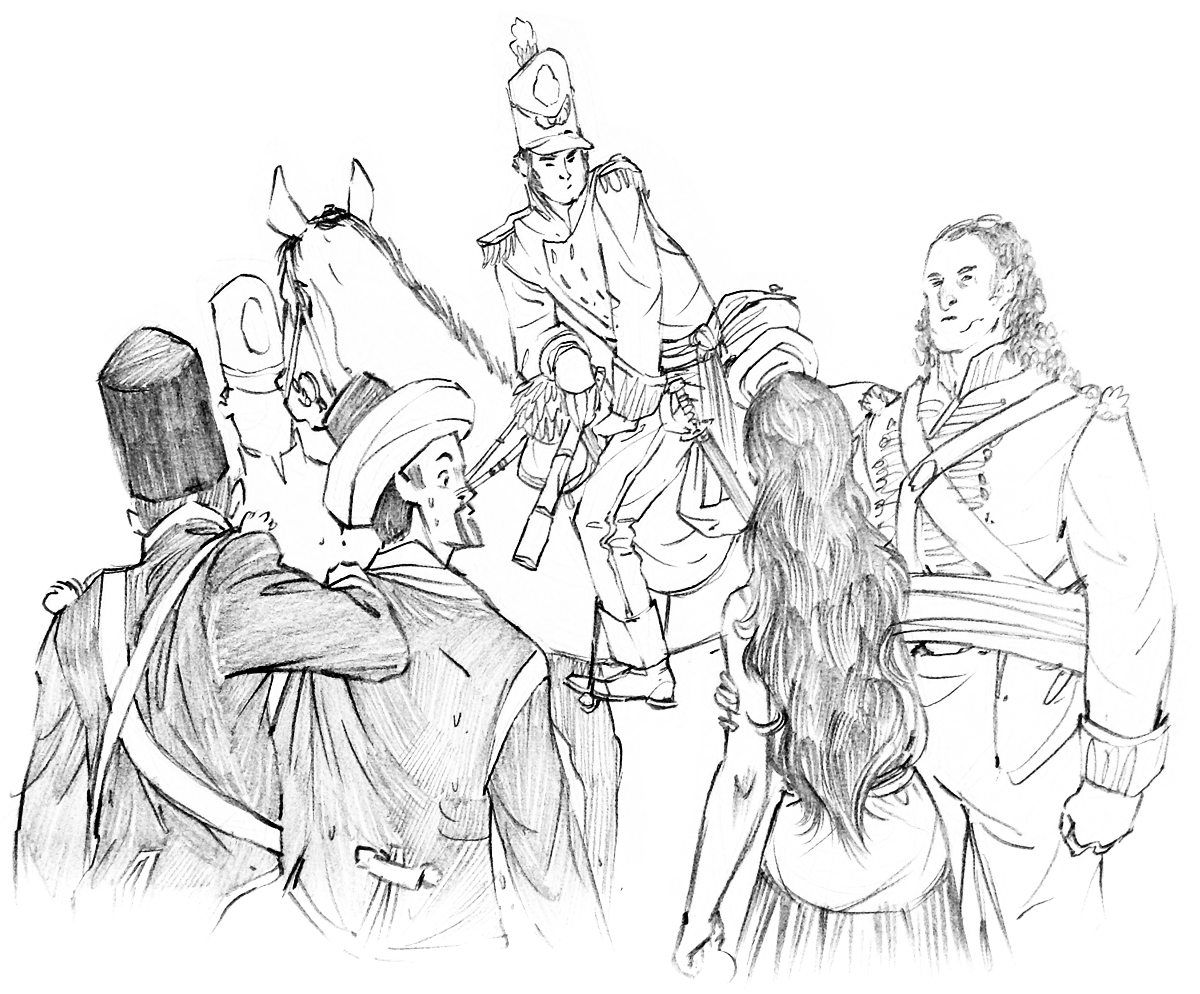 Delilah Dirk and the Blades of England Sketch
