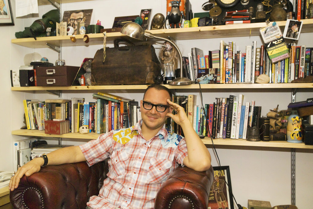 Cory Doctorow, portrait by Paula Mariel Salischiker