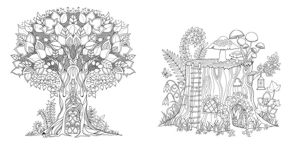 Открытка диана, раскраска джоанны басфорд зачарованный лес образцы раскраски