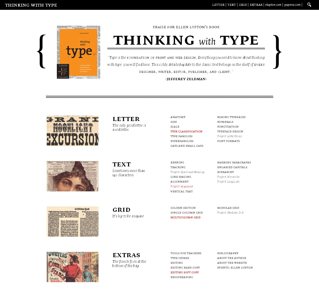 thinking with type website